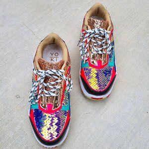 YOKI | Multi -Color Sequins Tennis Shoes | 7.5. …